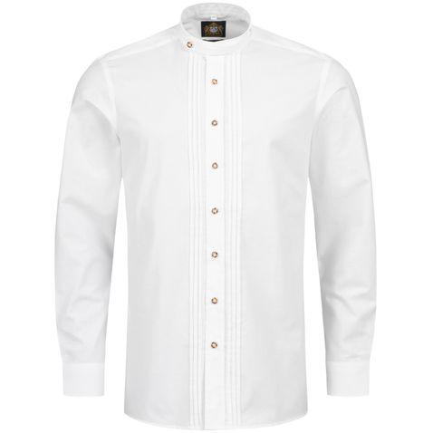 Trachtenhemd Norbert Slim Fit in Weiß von Hammerschmid