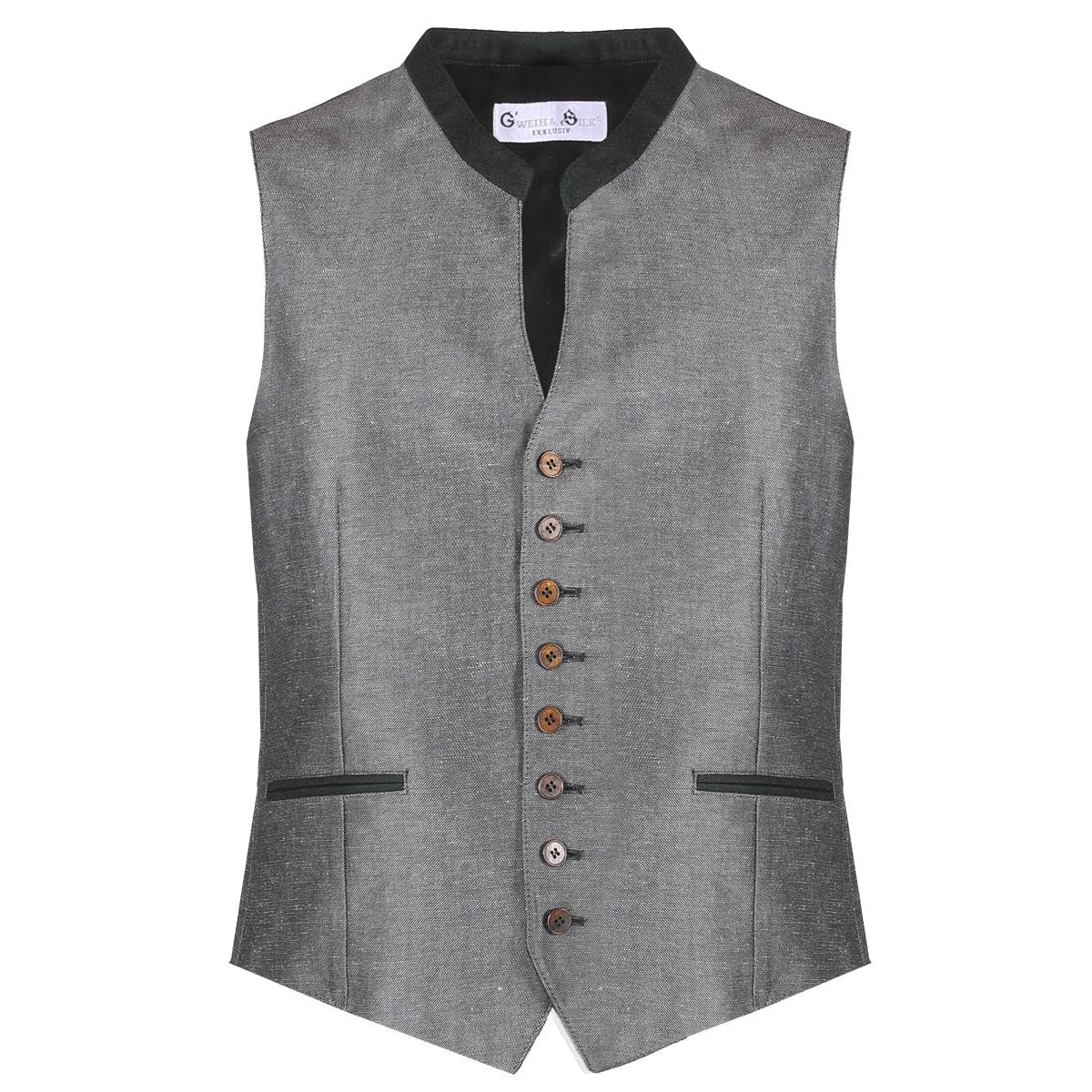 Trachtenweste Chris in Grau von Gweih & Silk günstig online kaufen