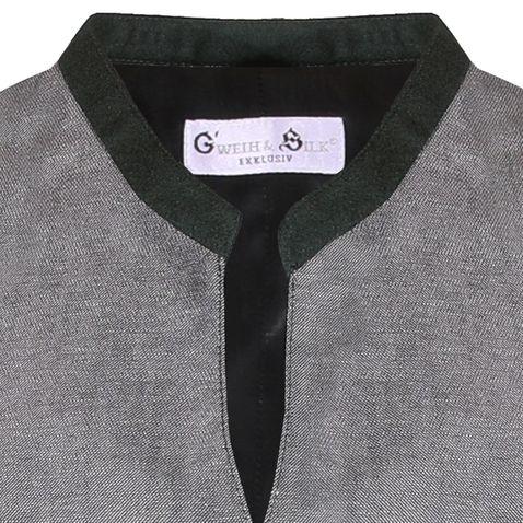 Trachtenweste Chris in Grau von Gweih & Silk