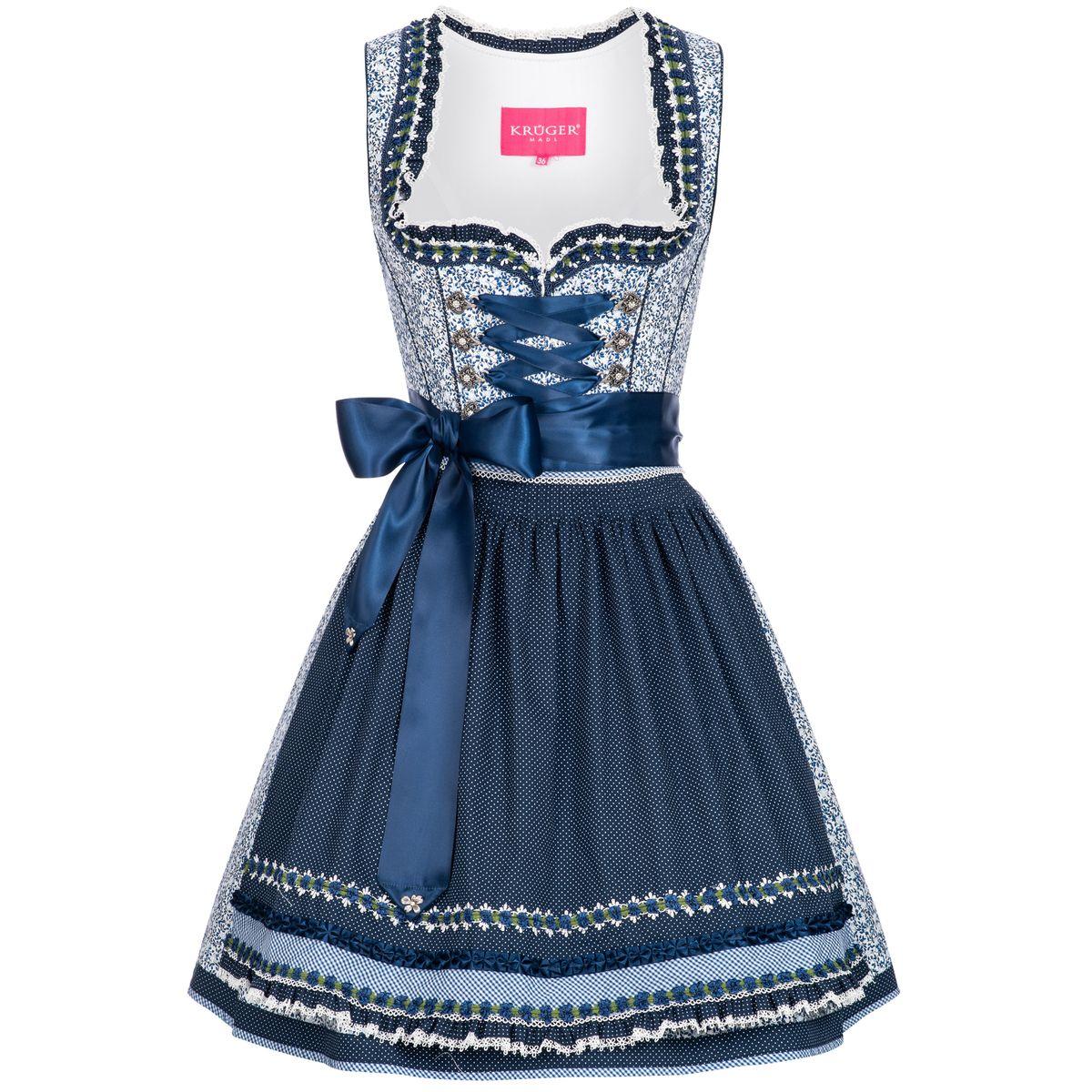 Mini Dirndl Matilda in Blau von Krüger Dirndl günstig online kaufen