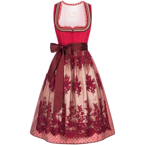 Midi Dirndl Kathl in Rot von Krüger Collection