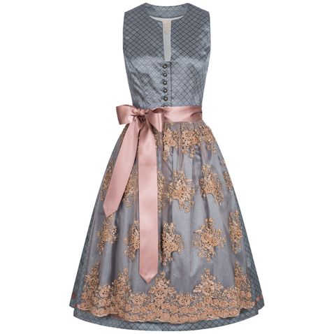 Midi Dirndl Ricarda in Grau von Krüger Collection