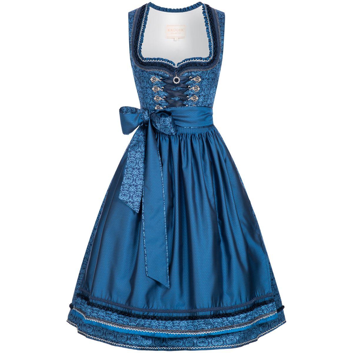 Midi Dirndl Christl in Blau von Krüger Collection günstig online kaufen