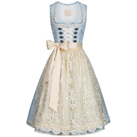 Midi Dirndl Franzi in Hellblau von Krüger Collection