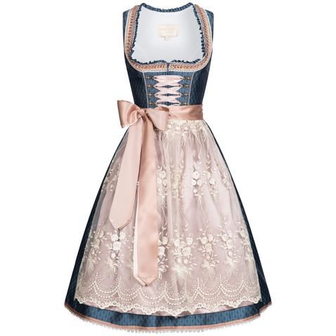 Midi Dirndl Kerstin in Blau von Krüger Collection