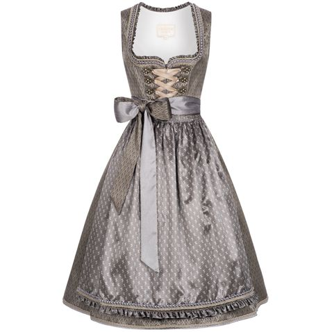 Midi Dirndl Carmen in Grau von Krüger Collection