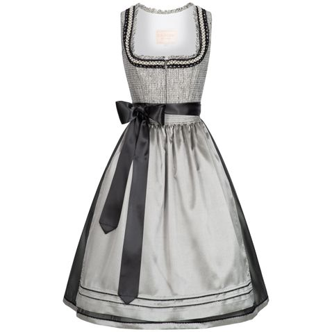 Midi Dirndl Susanne in Grau von Krüger Collection