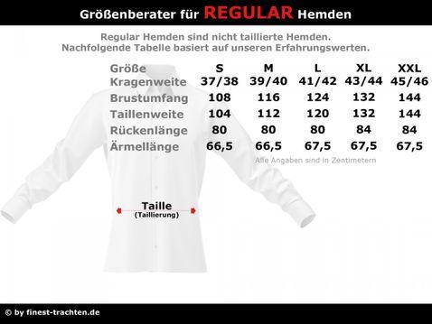 Trachtenhemd Mathias Regular Fit mit Riegel in Weiß von Schweighart