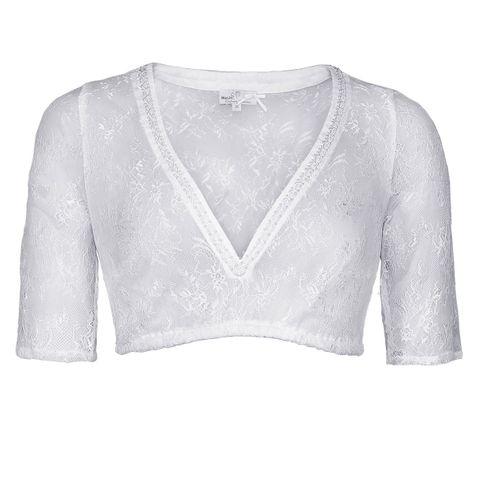 Dirndlbluse Ciara-Vida in Weiß von Marjo Trachten