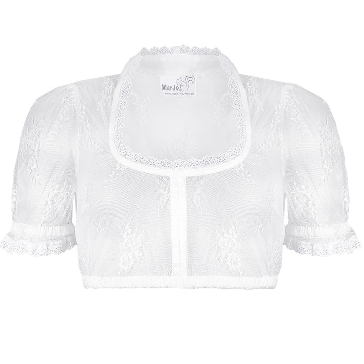 Dirndlbluse Fenja-Lauren in Off-white von Marjo Trachten