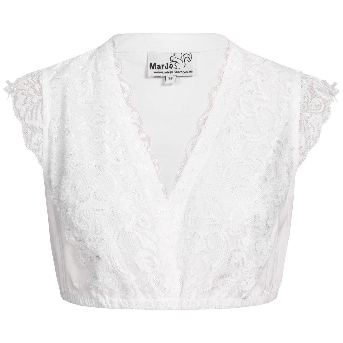 Dirndlbluse Fergie-Almut in Weiß von Marjo Trachten