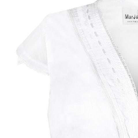 Dirndlbluse Fiona-Almut in Weiß von Marjo Trachten