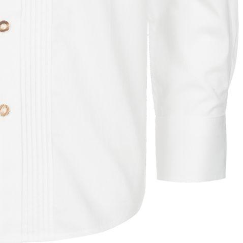 Trachtenhemd für Kinder mit Stehkragen in Weiß von Almsach