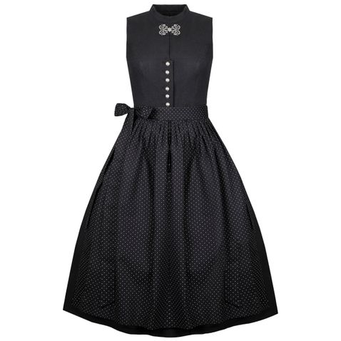 Midi Dirndl Rosi in Schwarz von Apple of my Eye