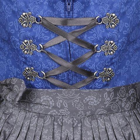 Midi Dirndl Mona in Blau von Berwin und Wolff