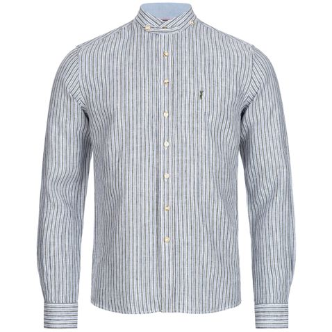 Trachtenhemd Flo Slim Fit in Oliv von Almsach