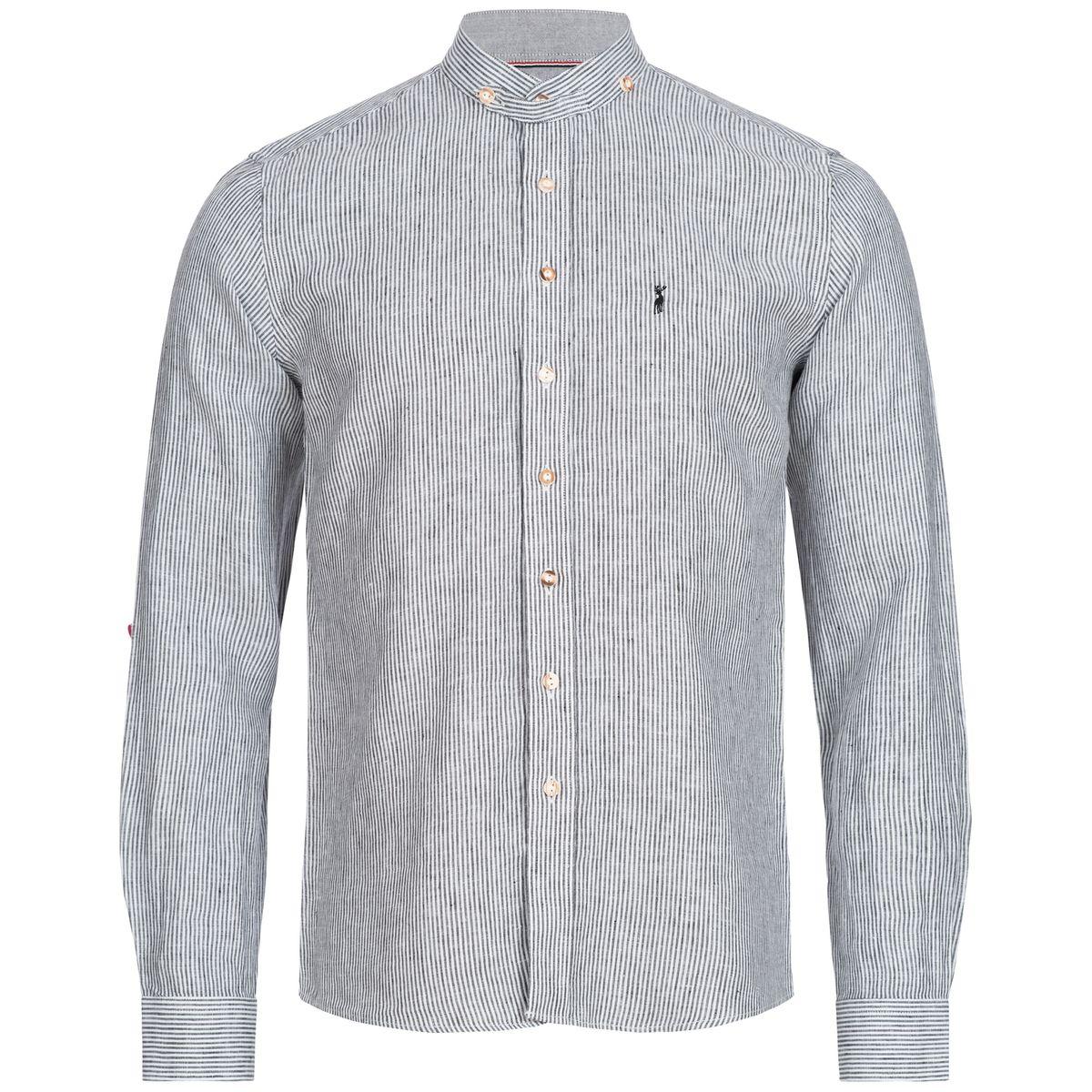 Trachtenhemd David Slim Fit in Schwarz von Almsach günstig online kaufen