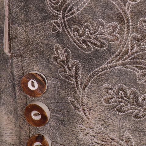 kurze Lederhose Wangen in Beige von Hammerschmid