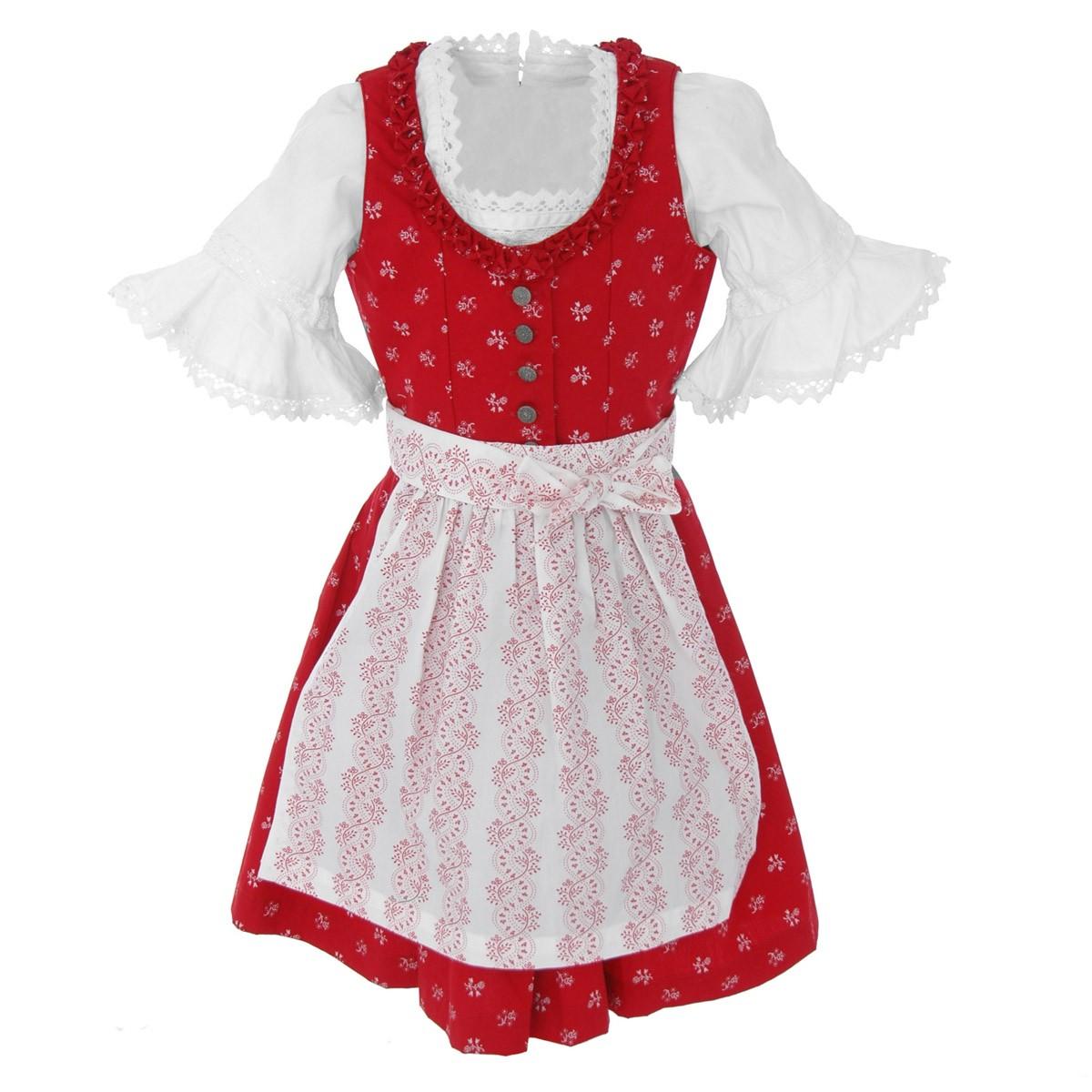 Kinderdirndl Christina in Rot von Almsach günstig online kaufen