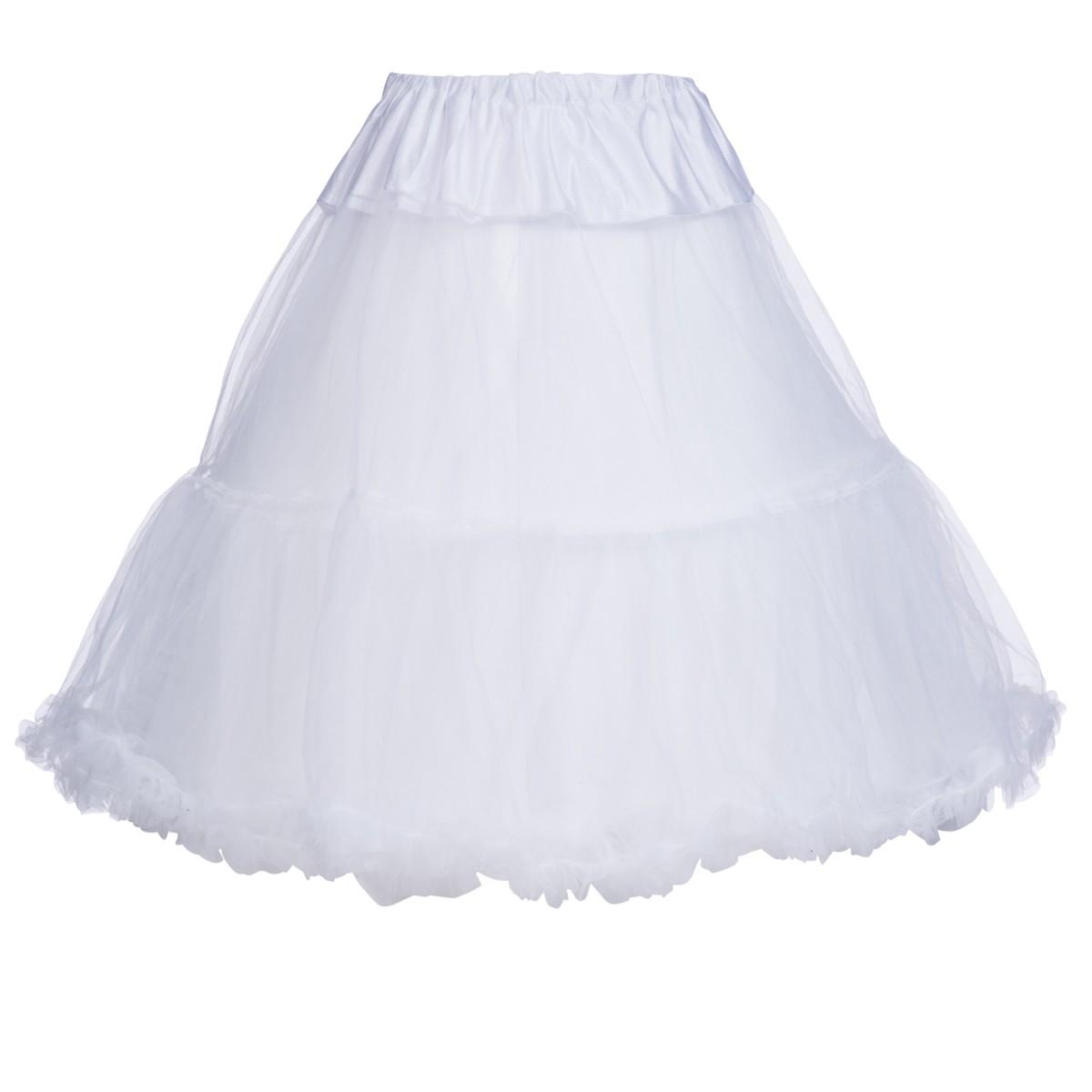 Petticoat in Weiß von Marjo Trachten 65cm