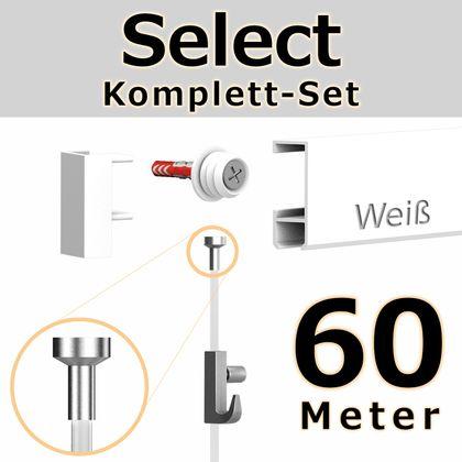 Bilderschienen Set 60 m in Weiß - Select - Bilderschiene inklusive Zubehör