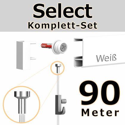 Bilderschienen Set 90 m in Weiß - Select - Bilderschiene inklusive Zubehör – Bild 1