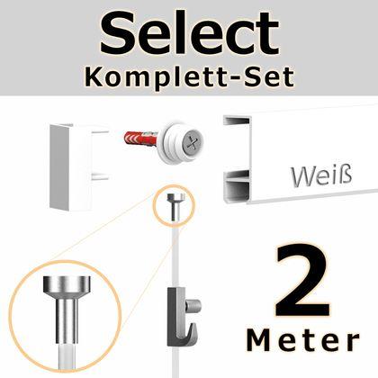 Bilderschienen Set 2 m in Weiß - Select - Bilderschiene inklusive Zubehör – Bild 1