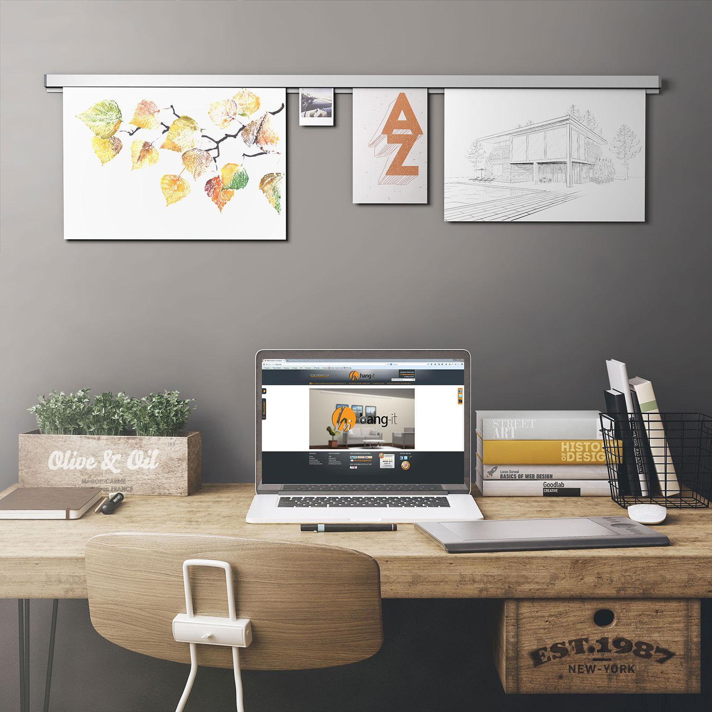 hang it klemmschiene aluminium 100 cm wandmontage neu. Black Bedroom Furniture Sets. Home Design Ideas