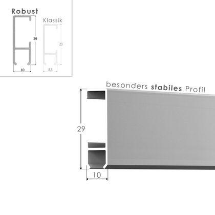 Galerieschienen Set 50 m in Silber - Premium Galerieschiene inklusive Zubehör – Bild 3