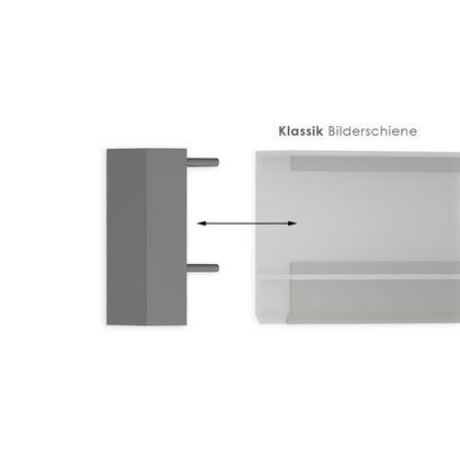 Endkappe für silberne Bilderschienen - Wandmontage – Bild 1