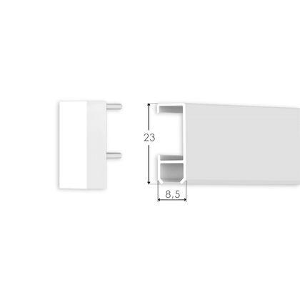 Bilderschienen Set 1 Meter - Klassik - Bilderschiene in Weiß – Bild 3