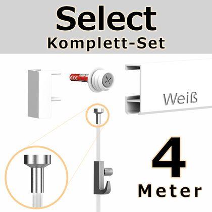 Bilderschienen Set 4 m in Weiß - Select - Bilderschiene inklusive Zubehör – Bild 1