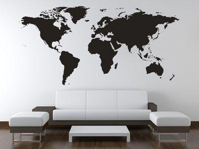 Wandtattoo Weltkarte 2