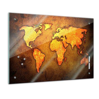 Memoboard - Weltkarte braun – Bild 1