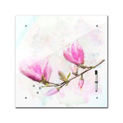 Memoboard - Aquarelle - Magnolien - 40x40 cm – Bild 2