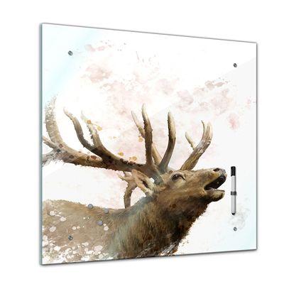 Memoboard - Tiere - Hirsch Aquarell - 40x40 cm – Bild 1