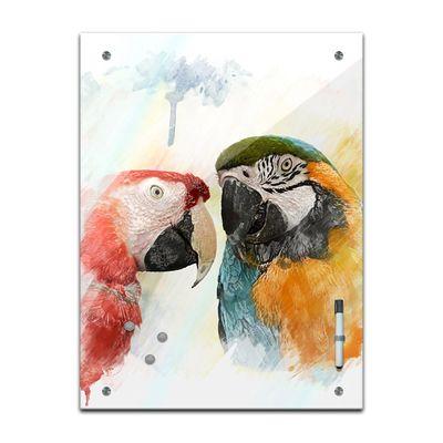 Memoboard - Tiere - Papageien Aquarell – Bild 2
