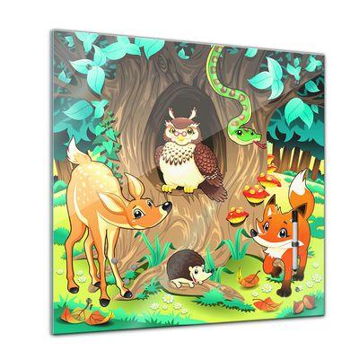 Memoboard - Kinder - Tiere des Waldes - 40x40 cm – Bild 1