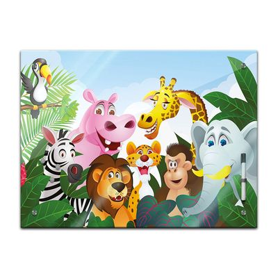 Memoboard - Kinder - Dschungeltiere Cartoon  – Bild 2