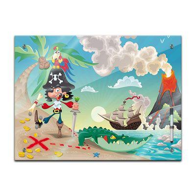 Memoboard - Kinder - Pirat auf Insel – Bild 2