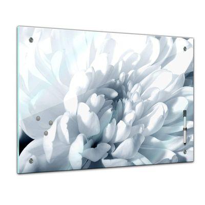 Memoboard - Pflanzen & Blumen - weisse Chrysanthemen – Bild 1