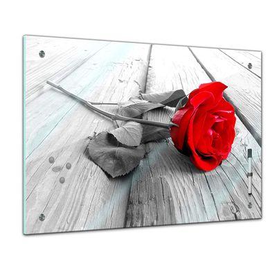 Memoboard - Pflanzen & Blumen - Rose Steg – Bild 1
