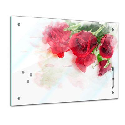 Memoboard - Pflanzen & Blumen - Rote Rosen – Bild 1