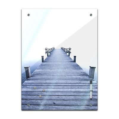 Memoboard - Landschaft - Steg blau – Bild 2
