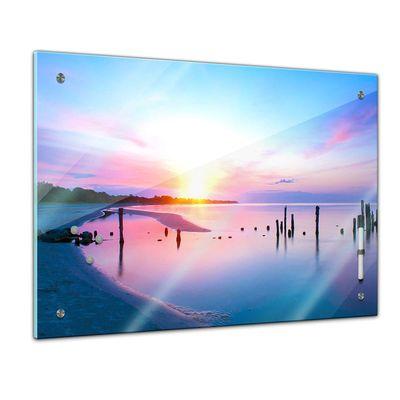 Memoboard - Landschaft - Alter Steg im Sonnenuntergang – Bild 1