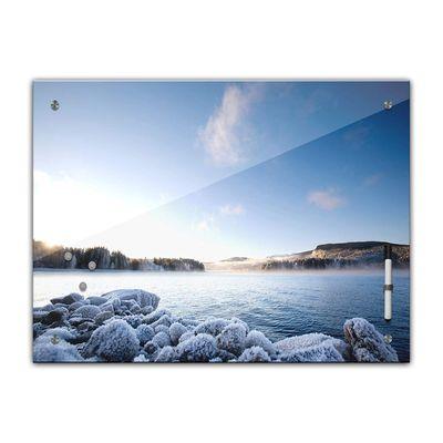 Memoboard - Landschaft - Fjord im Winter – Bild 2