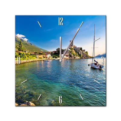 Glasuhr - Städte, Seen & Landschaften - Malcesine am Gardasee - 40x40cm – Bild 2