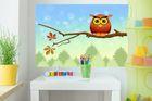 selbstklebende Fototapete - Kinderbild - Uhu Cartoon 001