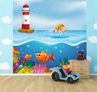 selbstklebende Fototapete - Kinderbild - Unter dem Meer Cartoon 001