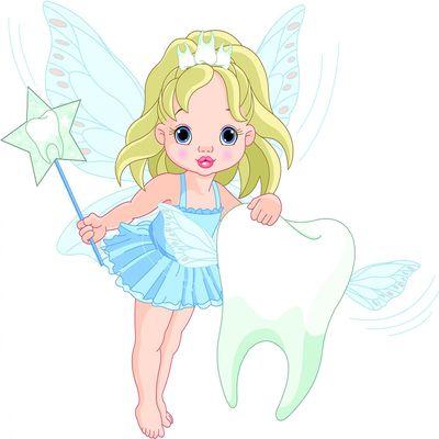 selbstklebende Fototapete - Kinderbild - Zahnfee II - Zahnfeeprinzessin – Bild 2